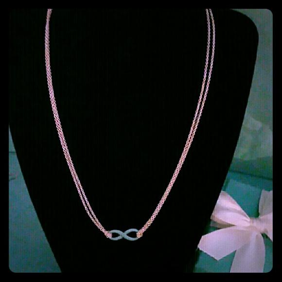 c0410211a Tiffany & Co. Blue Enamel Infinity Necklace NIB. M_5b088b4a3afbbd5635134020